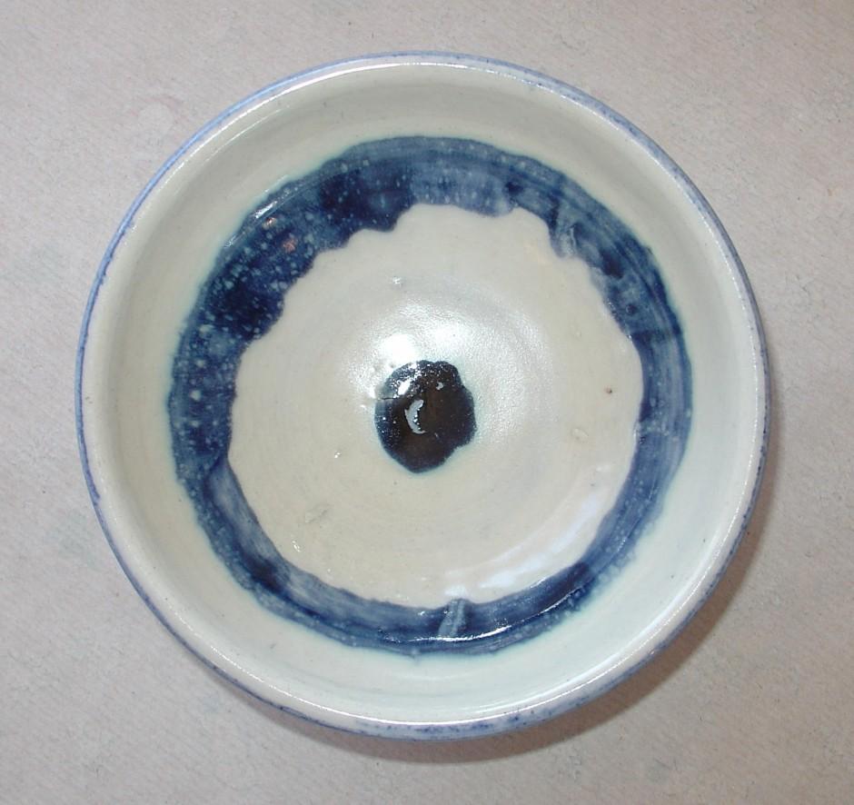 dark blue dot bowl