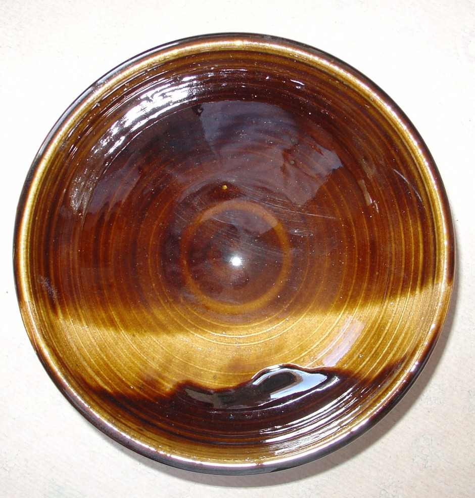 brown wave bowl