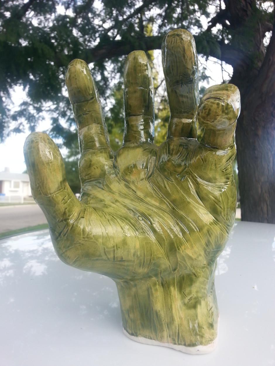 Green Hulk Hand