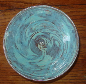 Brown Blue Swirl Bowl