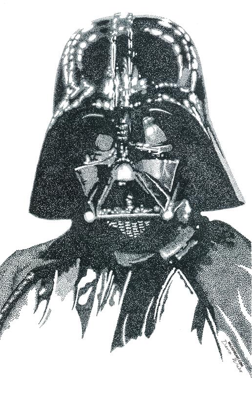 Darth Vader Stippling