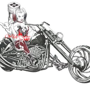 Harley Quinn watermark
