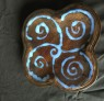 Brown and Blue Swirly Plate
