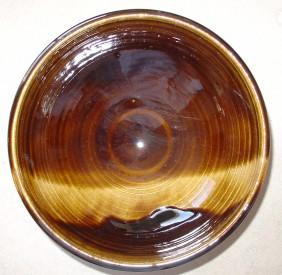 brown wave bowl